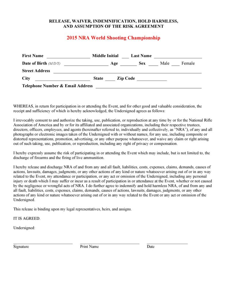 release of liability form 016