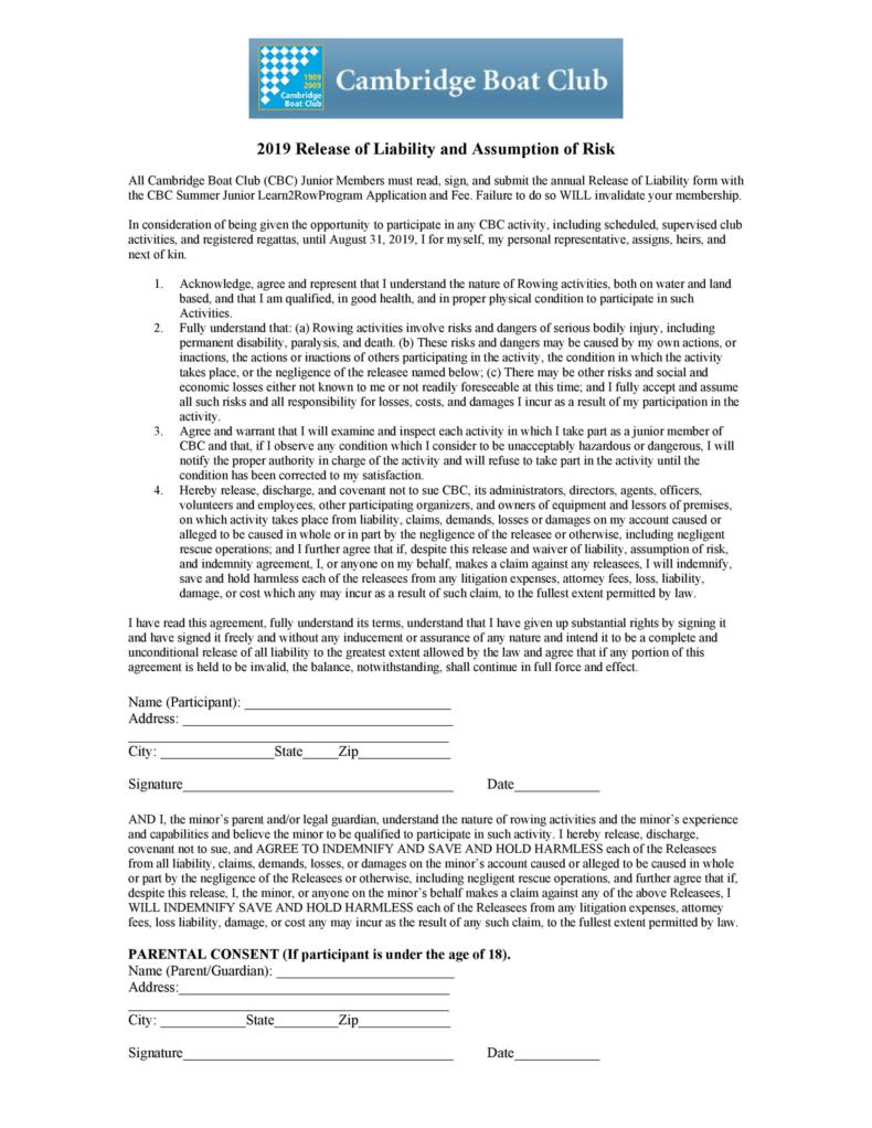 release of liability form 018