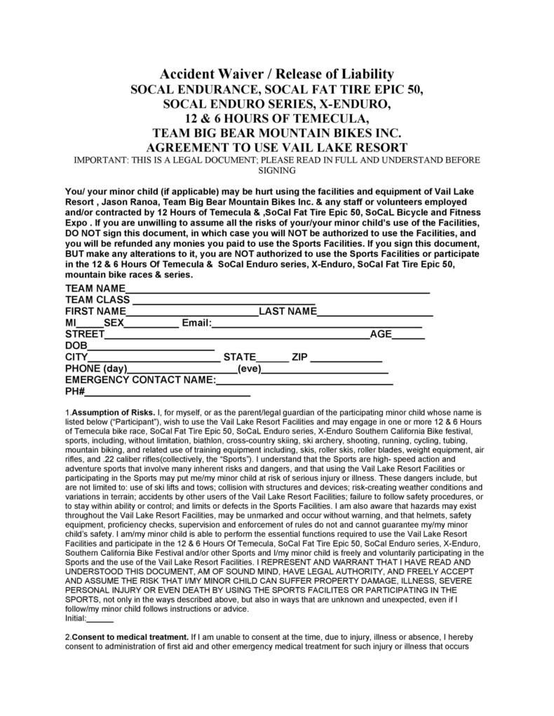 release of liability form 020