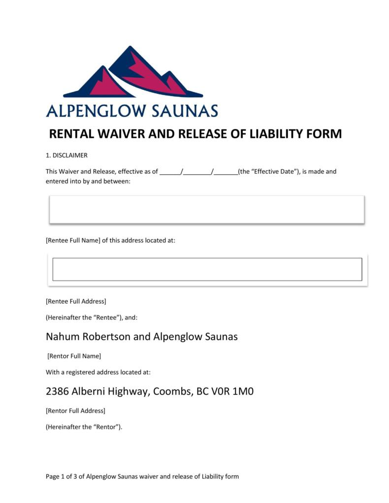 release of liability form 024