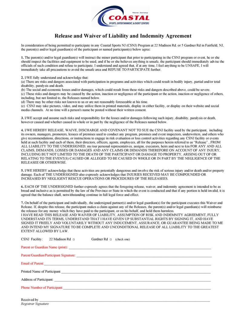 release of liability form 027