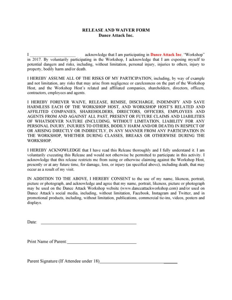 release of liability form 029