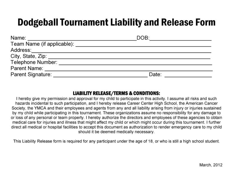 release of liability form 030